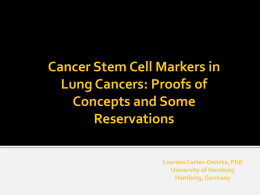 Cancer stem cells