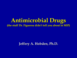 Antimicrobial Drugs - LSU School of Medicine