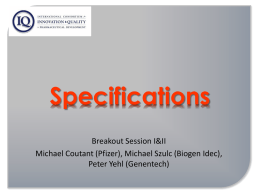 Specifications Breakout