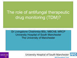 The role of antifungal drug monitoring