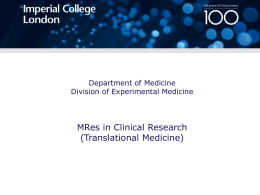 MREs in Clinical Research