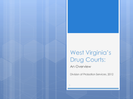 West Virginia*s Drug Courts: