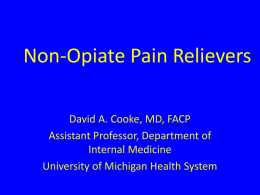 Non-Opioid Pain Relievers