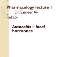 Pharmacology lecture 1 Dr. Sameer Al