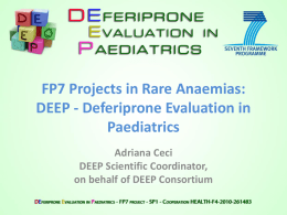 Deferiprone Evaluation in Paediatrics
