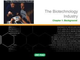 PowerPoint - Biotechnology Career Academy
