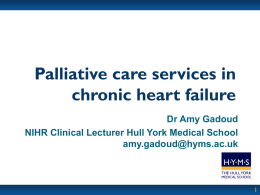 Recognition of palliative care needs of heart failure patients