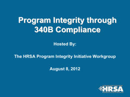 HRSA`s Program Integrity Initiative