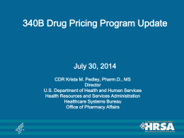 340B Drug Pricing Program Update