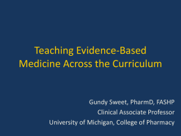 Teaching Evidence-Based Medicine Across the