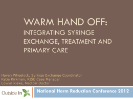Warm Hand Off - Harm Reduction Coalition