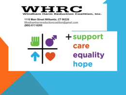 Effective October 1, 2012 - Harm Reduction Coalition