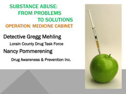 Drug awareness and prevention - Lorain County Chamber of
