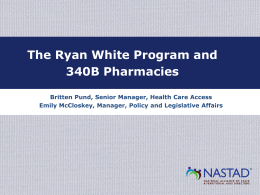 The Ryan White Program and 340B Pharmacies