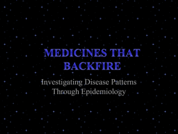 Medicines That Backfire - StudentF