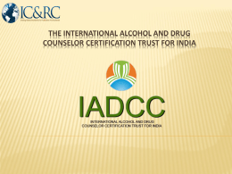 Introduction to IADCCB and ICAARP
