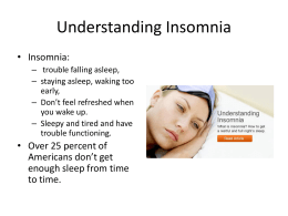 View the Insomnia PPT