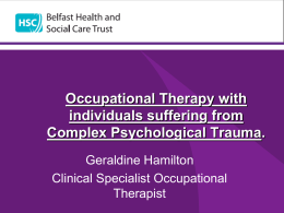Occupational Therapy with individuals suffering from Complex