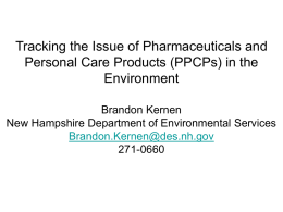 Pharmaceuticals and Personal Care Products (PPCPs)
