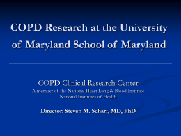 COPD Research at the University of Maryland
