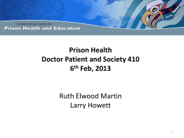 Introduction to Prison Health for medical students