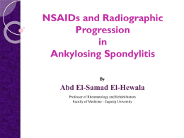 NSAIDs and Radiographic Progression in Ankylosing