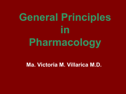 General Principles in Pharmacology