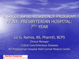 PGY2 Pharmacy Residency Program