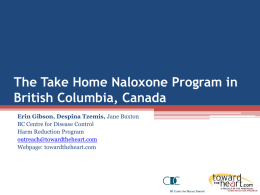 The Take Home Naloxone Program in British Columbia, Canada