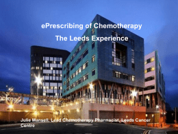 Leeds Cancer Centre - ePrescribing Toolkit