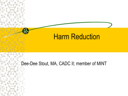 Harm Reduction in a 12-Step World