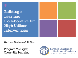 Building a Learning Collaborative for High Utilizer