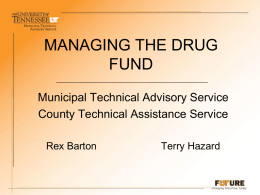 DRUG FUND city county 2012 evidence handouts