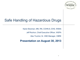 Safe Handling of Hazardous Drugs - Washington State Healthcare