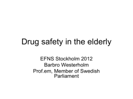 Drug Safety in the Elderly