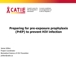 Preparing for pre-exposure prophylaxis (PrEP) to prevent