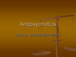 Antipsychotics - Yorkshire and the Humber Deanery