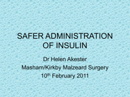 Safety using Insulin