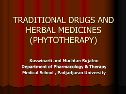 traditional drugs and herbal medicine