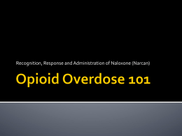 Opioid Overdose 101 - Harm Reduction Coalition