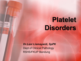 Acquired Qualitative Platelet Disorders