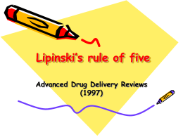 Lipinski`s rule of five