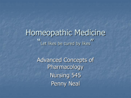 Homeopathic Medicine - Health Vista Home Page