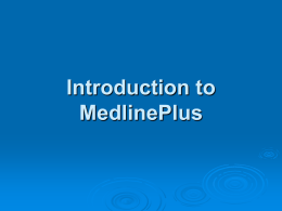 MedlinePlus Tutorial - Health Justice Network