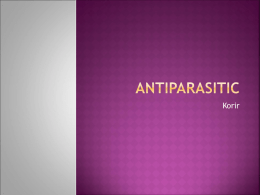 Antiparasitic