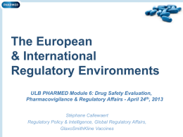 EU & International Regulatory Environments
