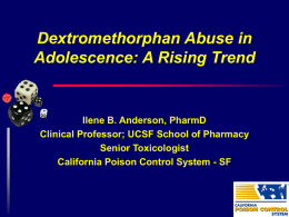 Dextromethorphan Abuse in Adolescence: A Rising Trend