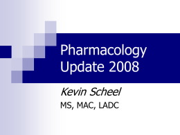 Pharmacology Update 1999 - Distance Learning Center for