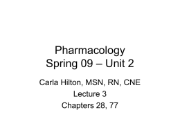 Pharmacology - Shelbye's CSON Notes Blog