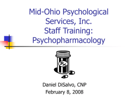 Mid-Ohio Psychological Services, Inc. Staff Training on